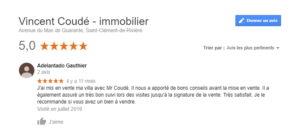 Avis client Vincent Coudé immobilier montpellier